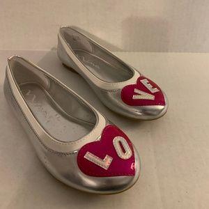 Girls Nina Ballet Flats with LOVE